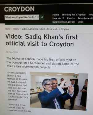 Caught on camera: Jo Negrini and Sadiq Khan, as they appear on the council's computer system. Too chummy?