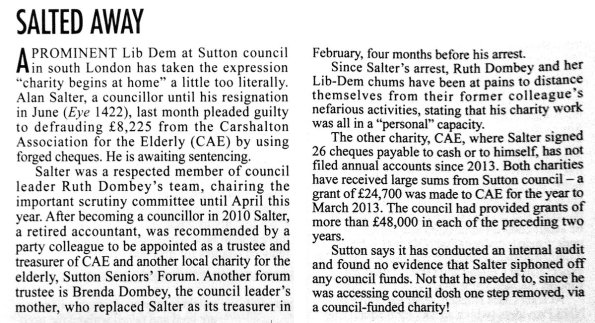 How Private Eye has reported on the latest Sutton Council scandal this week