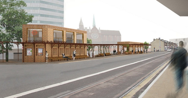 TfL's artist's impression of the new West Croydon bus station, which opens tomorrow