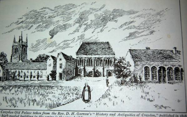 Croydon Old Palace, c1800, taken from the Rev DH Garrow's History and Antiquities of Croydon published in 1818