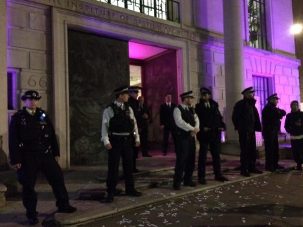 The diners attending the RIBA awards event were very well policed