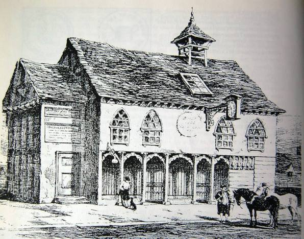 "The Market House, Butcher's Row, Croydon, c1800. What provision has been made to create a civic ""town centre"" in the 21st century regeneration plans?"
