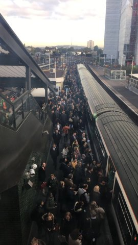Commuters crowd the platforms at East Croydon during the last day of strike action. The operator is more interested in increased profits than passengers' safety