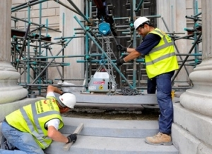 Stonewest's workmen busy on the conservation project at St Paul's Cathedral