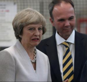 Awkward. We all make mistakes, Theresa
