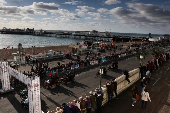 Nearly 400 cars reached the finish in Brighton before the 4.30pm deadline