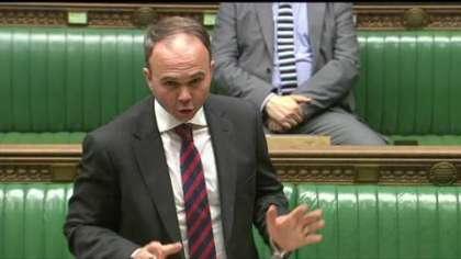 Croydon Central MP Gavin Barwell addressing the House of Commons