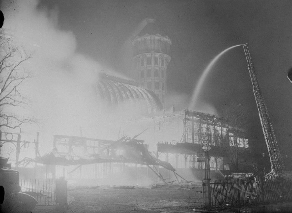 Despite being attended by fire crew from across the capital, nothing could stop the great blaze which destroyed the Crystal Palace