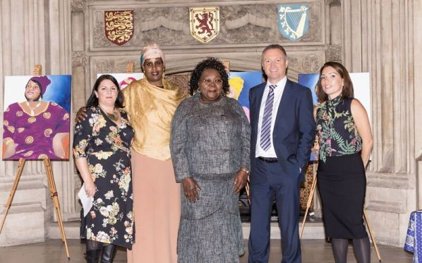 Emma Scutt, artist Hibo Wardere, Anti-FGM campaigner, author, public speaker (portrait subject) Lucy Njomo, Anti-FGM campaigner, Founder and Chief Executive Officer (CEO) of AYDA Centre (portrait subject) Steve Reed MP Beth Kelly, Programme Manager for the FGM project in Croydon