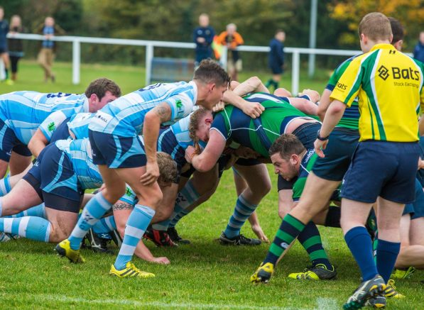 Alex Sampson, the scrum-half, and the Warlingham pack have struggled this season
