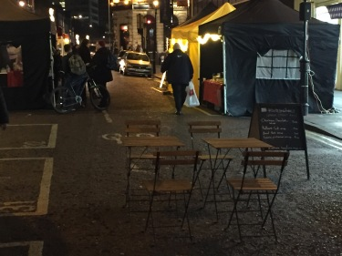 Meanwhile, on Surrey Street, the crowds had flocked, not, to the council-promoted Christmas market