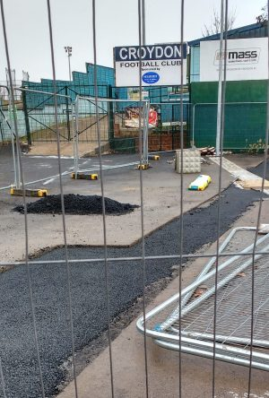 A £20m-plus project, and this is the state of the Oasis Arena Academy car park just months after it was 'finished'