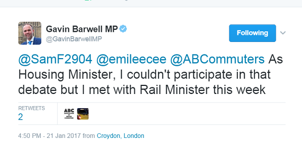 Barwell lets slip that he is far too busy with his ministerial duties to be able to represent his constituents