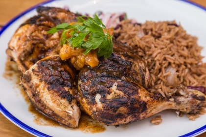Jerk chicken, as fine as you'll ever taste