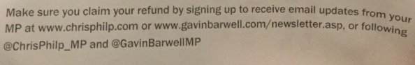 Barwell and Philp could have provided the public with information on how to claim their rail compensation. Instead, they asked them to hand over their personal information