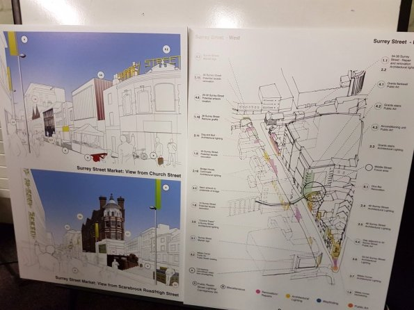 Some of the plans for Surrey Street which finally were available last night