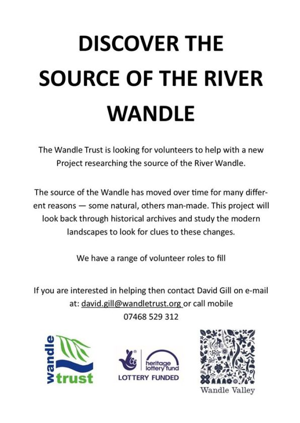 Wandle Modern volunteers needed to find the source of the river wandle inside