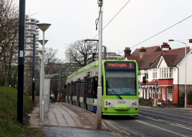 Integrating road traffic with the trams at Lebanon Road tram stop is something the council is failing to manage