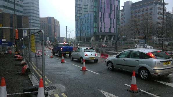 Traffic on Wellesley Road was nose-to-tail for much of the weekend - even when no work was being undertaken on the road