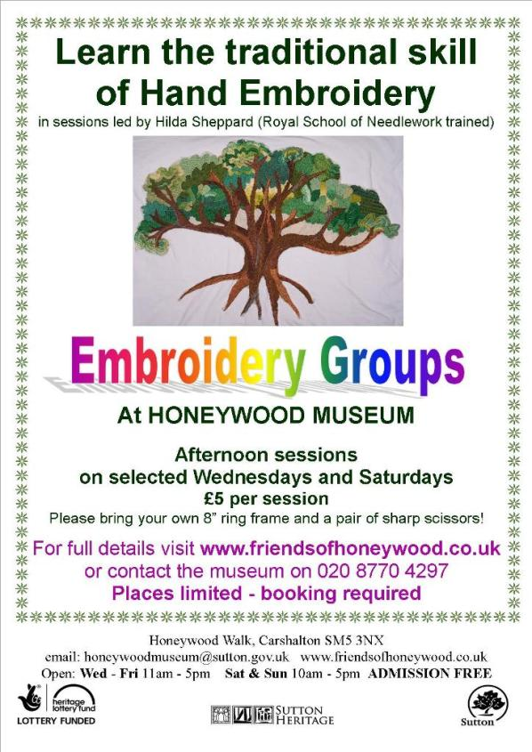 Embroidery Classes Honeywood Museum From Mar 29 Inside Croydon