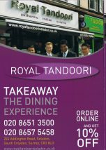 The Royal Tandoori's tacky leaflet, featuring a Tory MP