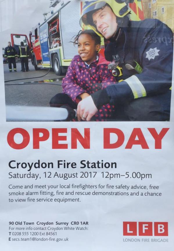 Croydon Fire Station open day, Old Town, Aug 12 | Inside Croydon