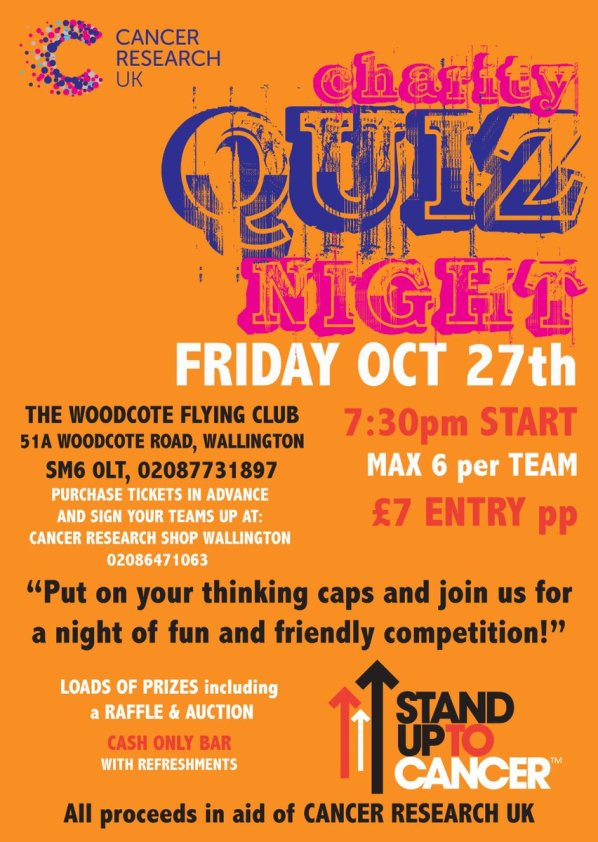 Cancer charity quiz night, Wallington, Oct 27 | Inside Croydon