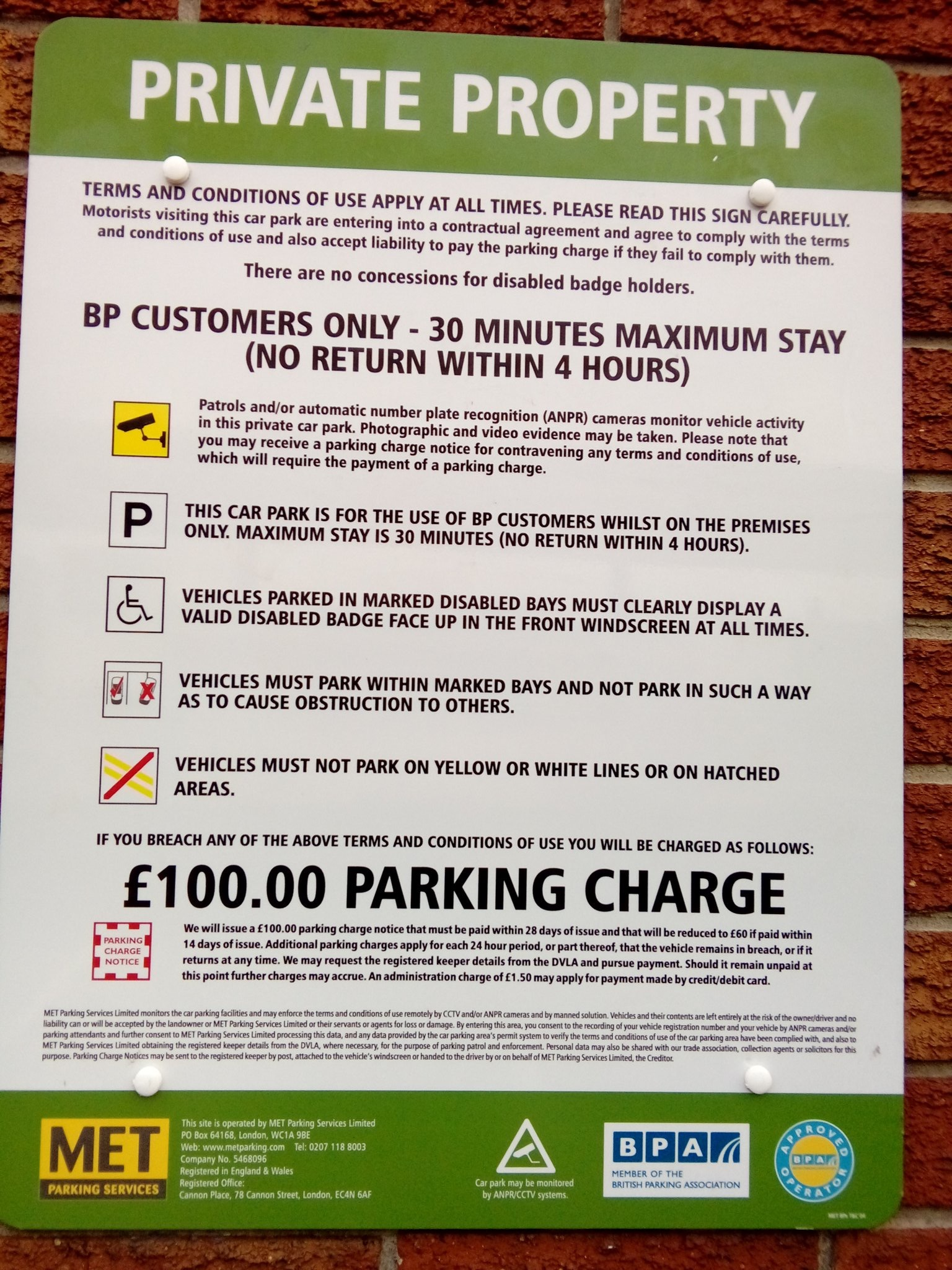 Met Parking Services >> Victory For Common Sense As Bp Backs Down Over 100 Fine Inside