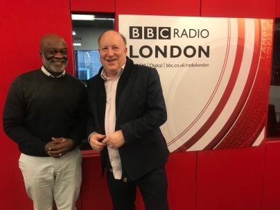 Tony Newman with Eddie Nestor BBC Radio London 15Apr2019