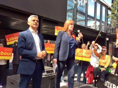 Sadiq Khan and Sarah Jones